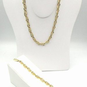 Jewelry - Lovely set! Gold-Tone Metal and Rhinestones